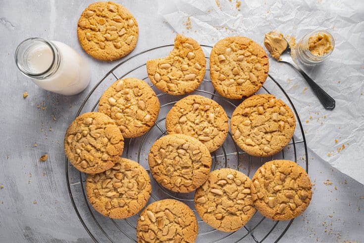 Gluten Free Peanut Butter Cookies Recipe (dairy free option)