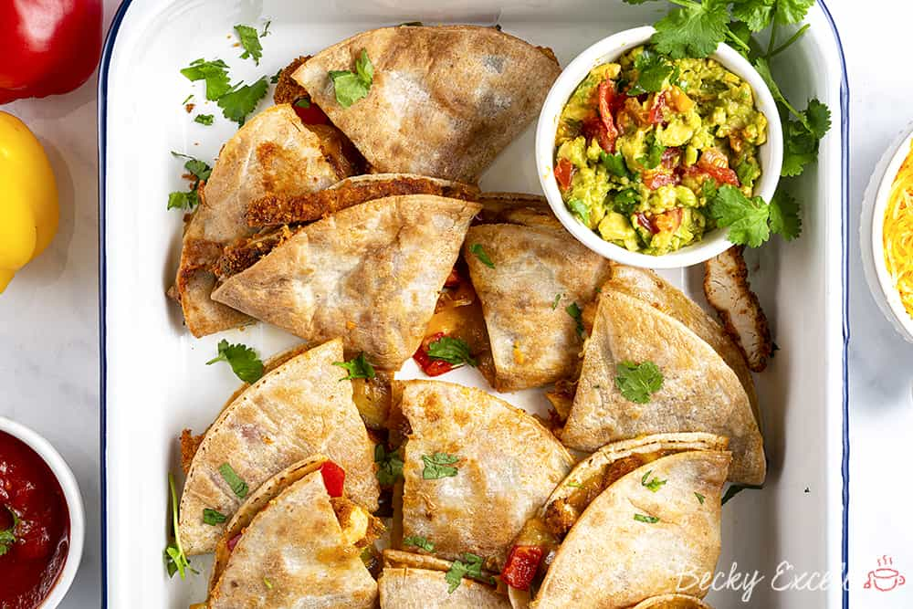 Gluten Free Southern Fried Chicken Quesadilla Recipe (dairy free option)