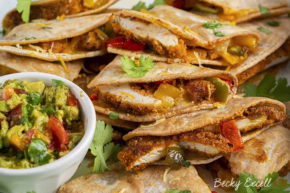 Gluten Free Southern Fried Chicken Quesadilla Recipe (dairy free option)