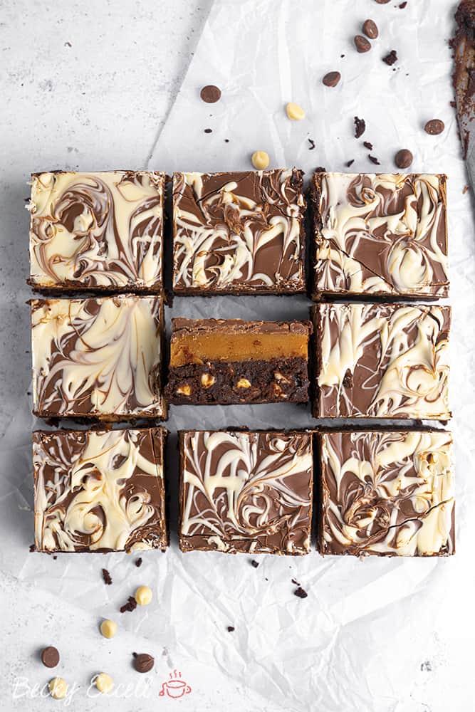 Gluten Free Millionaire's Brownie Recipe (Brillionaire's!)