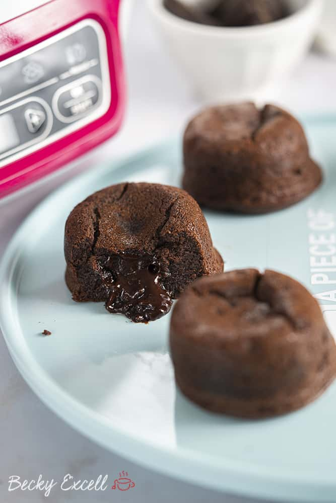 Oozing, gooey chocolate molten middle cakes