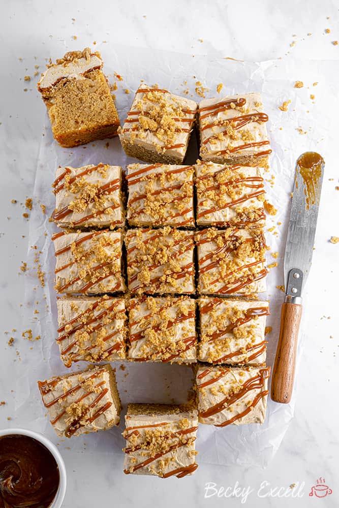 Gluten Free Toffee Apple Crumble Cake Recipe (dairy free option)
