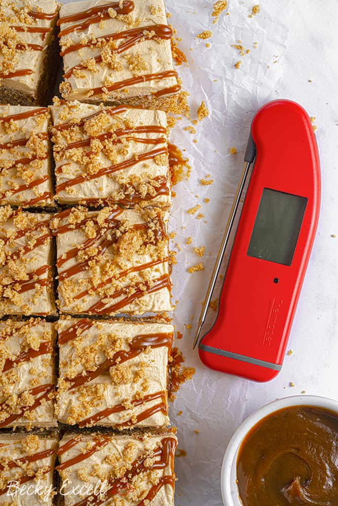 Using a Thermapen for my Gluten Free Toffee Apple Crumble Cake Recipe (dairy free option)