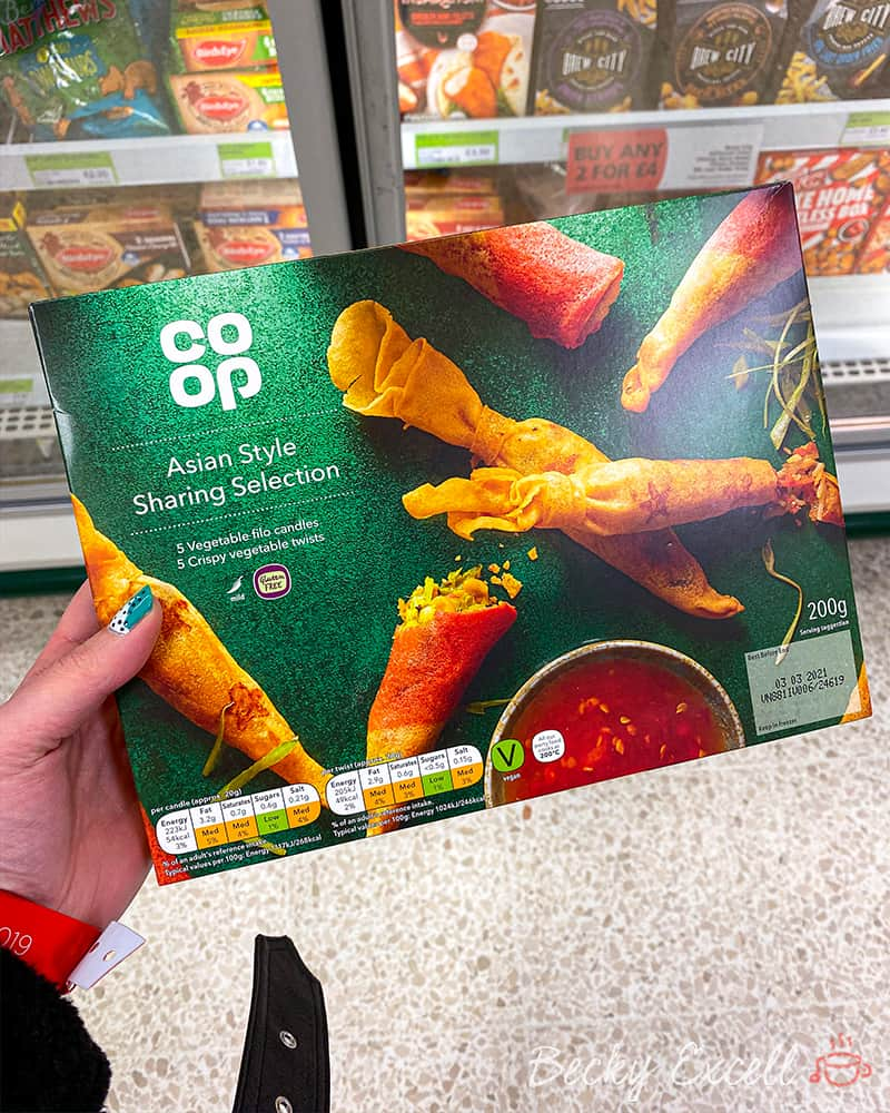 Asian Style Sharing Selection - 17 NEW products in the Co-op gluten free Christmas range 2019