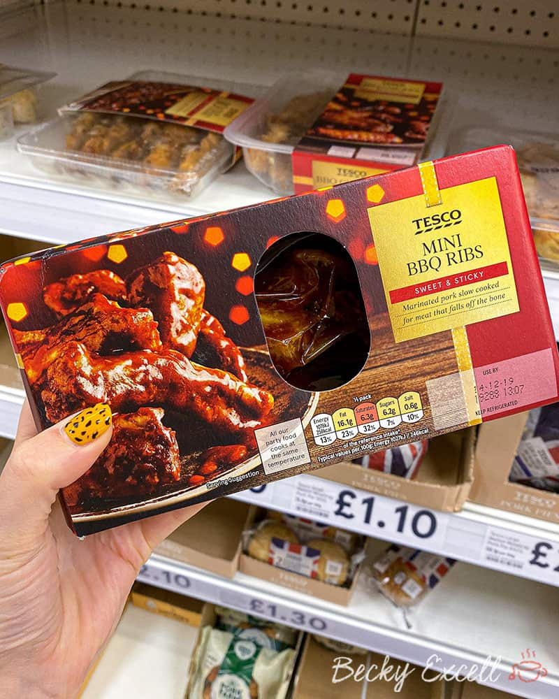 Tesco Mini BBQ Ribs - Gluten free