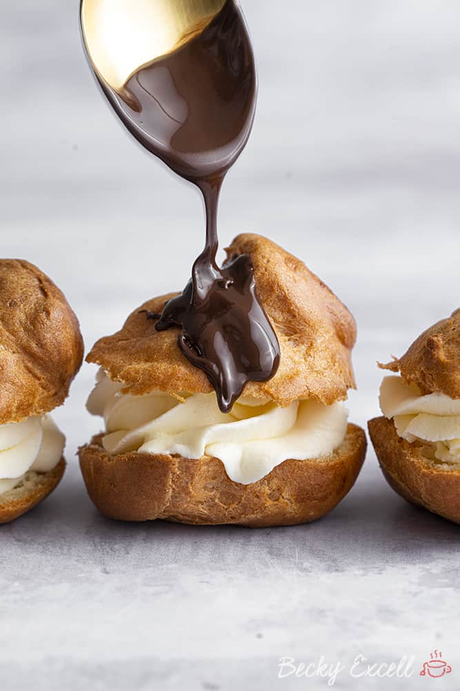 My BEST EVER Gluten Free Profiteroles Recipe (low FODMAP + dairy free option)