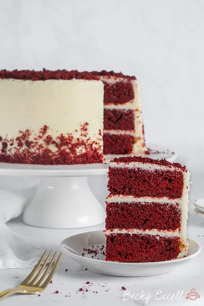Red Velvet Cake made using the Thermomix TM6 as a food processor