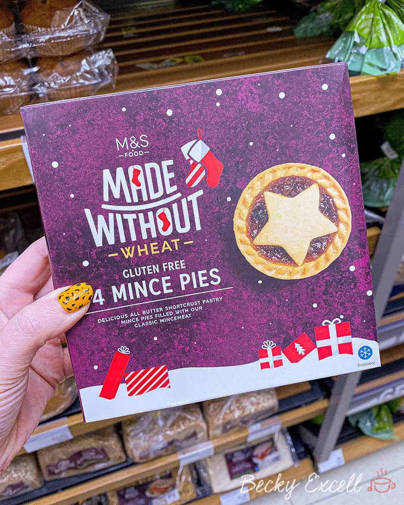 4 gluten free mince pies - Marks and Spencer Christmas gluten free range