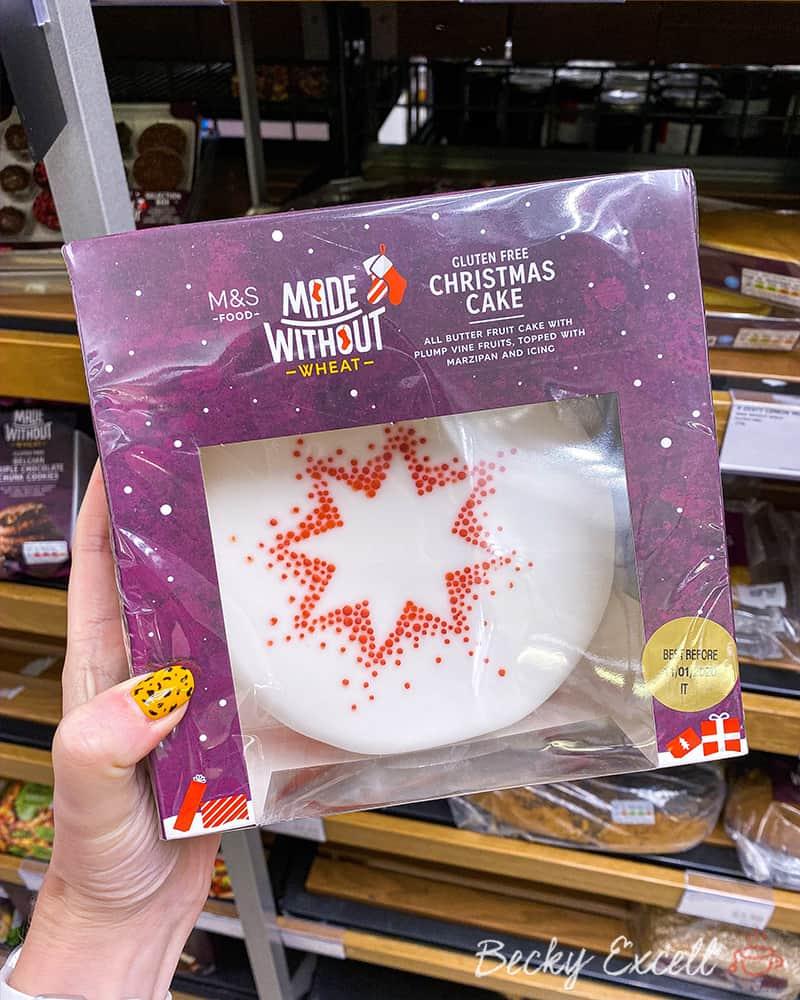 Christmas cake - Marks and Spencer Christmas gluten free range