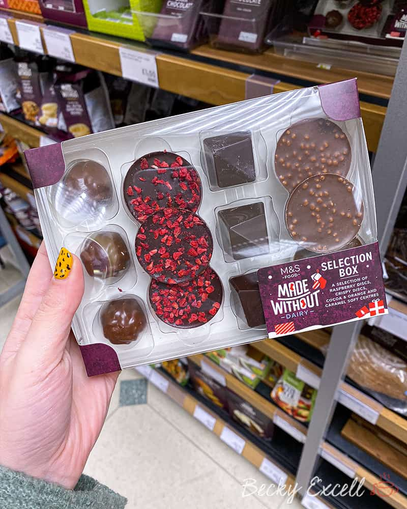 Dairy free selection box - Marks and Spencer Christmas gluten free range