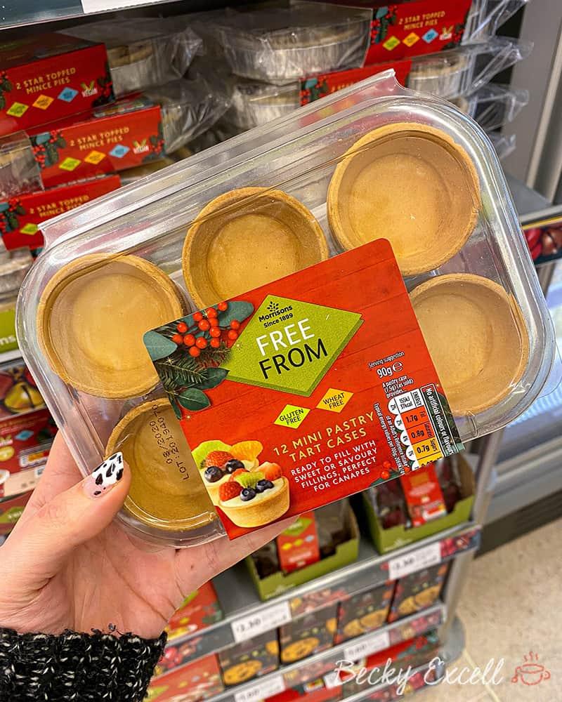 Gluten free mini pastry tart cases