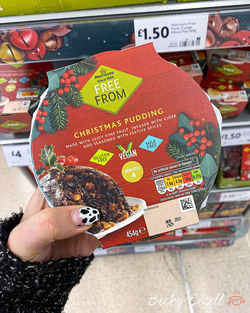 Morrisons free from Christmas pudding