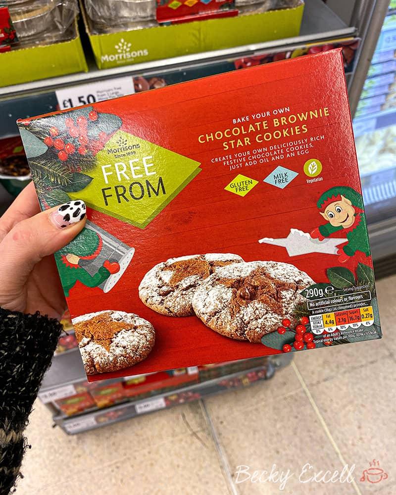 chocolate brownie star cookies