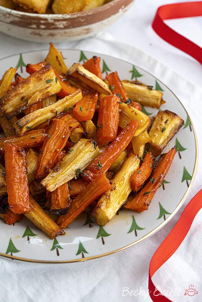 Sticky Maple and Orange Roasted Parsnips and Carrots Recipe
