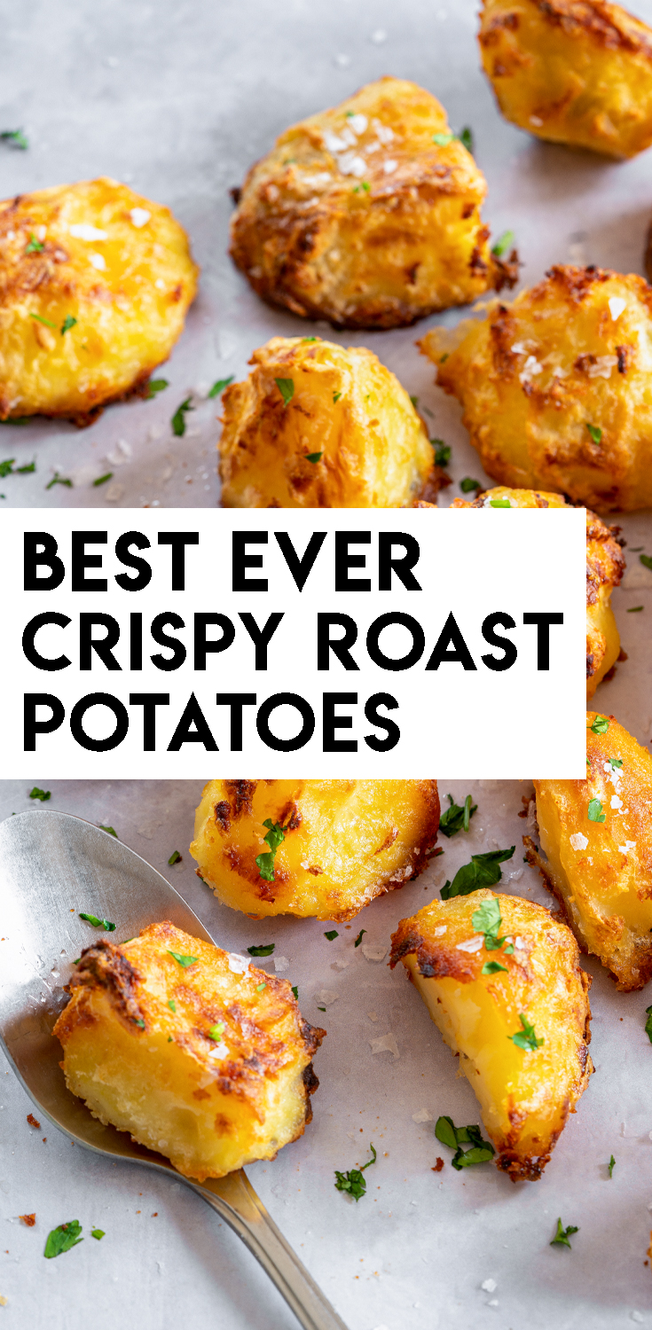BEST EVER Super Crispy Roast Potatoes Recipe - Quick and easy!