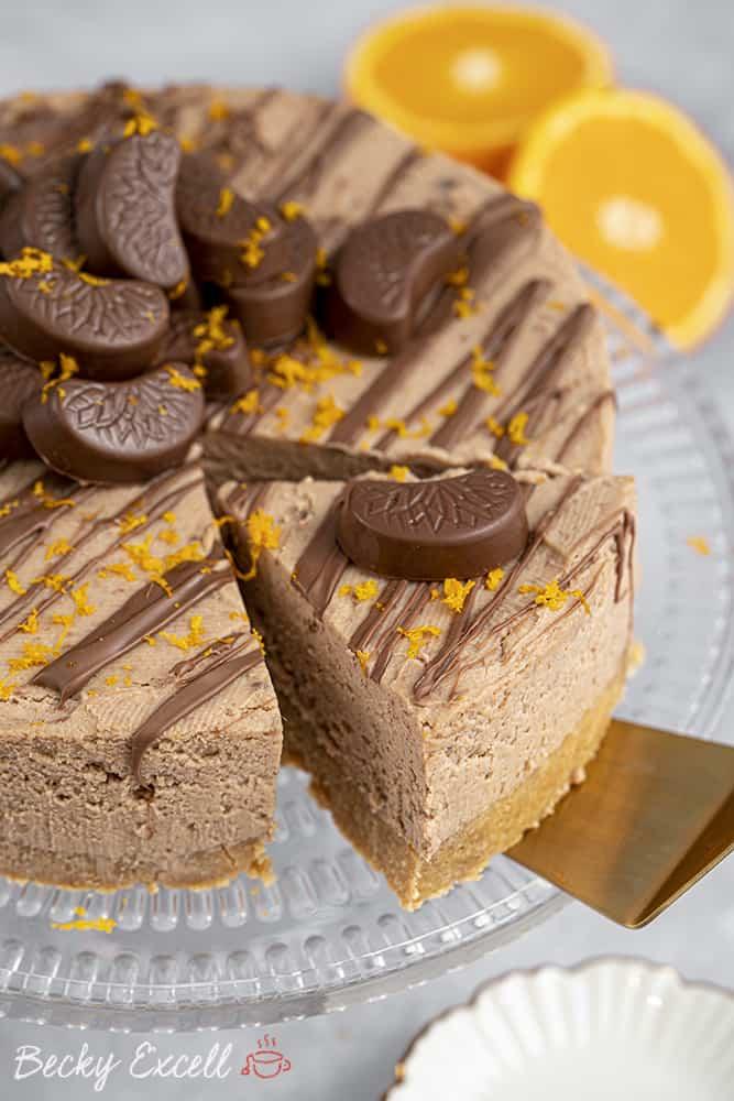 My Gluten Free Chocolate Orange Cheesecake Recipe (No-Bake)
