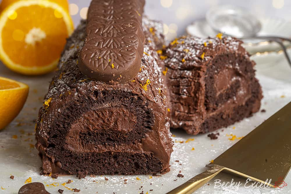 My Gluten Free Chocolate Orange Yule Log Recipe (dairy free, low FODMAP)