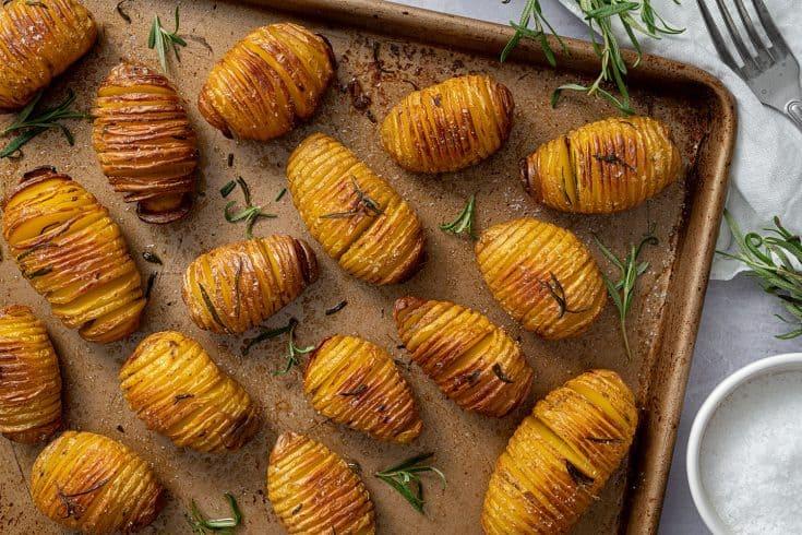 Hasselback Potatoes Recipe - BEST EVER! (dairy free, vegan, low FODMAP)