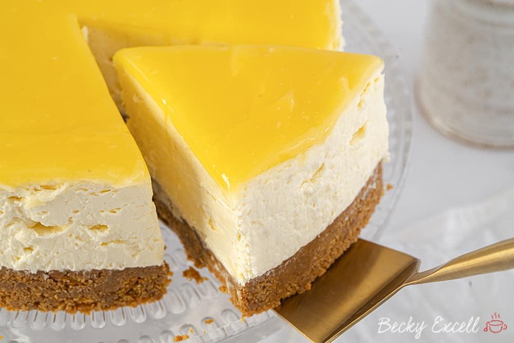 Gluten Free Lemon Cheesecake Recipe (No-Bake)