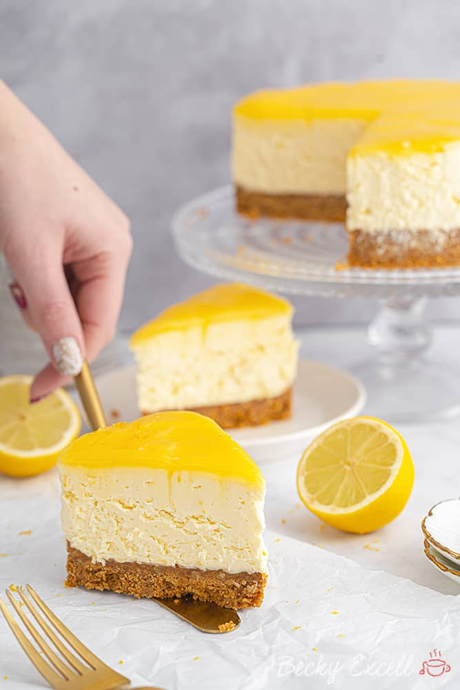Gluten Free Lemon Cheesecake Recipe (No-Bake)