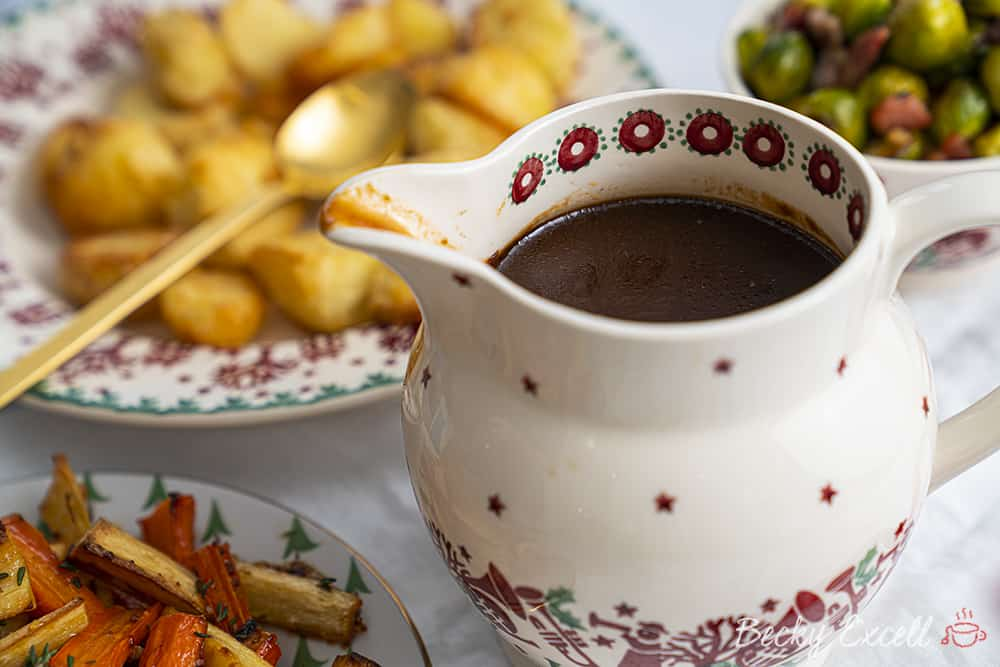 Gravy Recipe Without Meat Drippings (gluten free, low FODMAP)