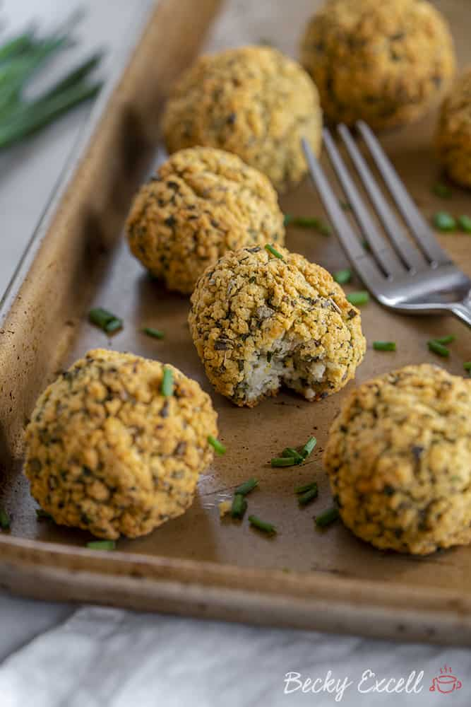 My Sage and Chive Stuffing Balls Recipe (dairy free/vegan option, low FODMAP)