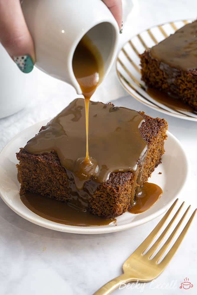 Gluten Free Sticky Toffee Pudding Recipe (low FODMAP + dairy free option)