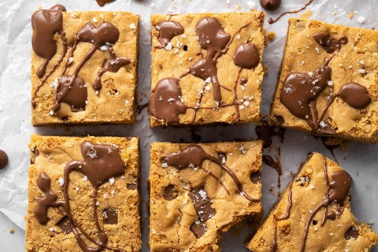 Gluten Free Cookie Bars Recipe (dairy free + vegan option)