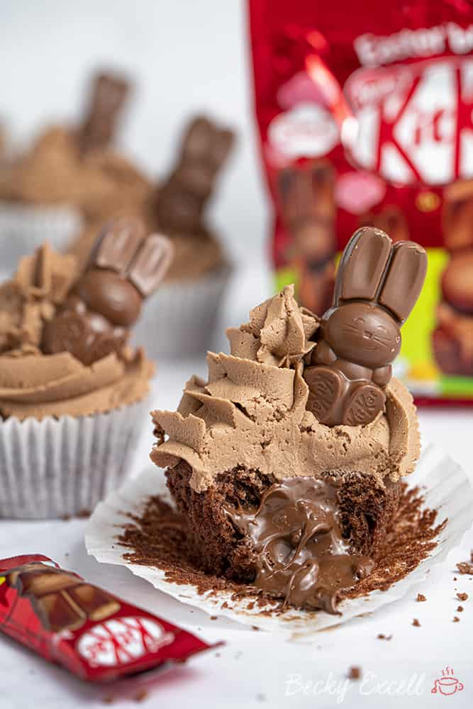 Gluten Free Easter KitKat Bunny Cupcakes Recipe