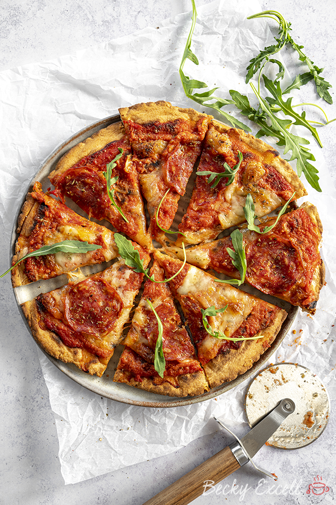 Spicy American pepperoni pizza - totally gluten free!