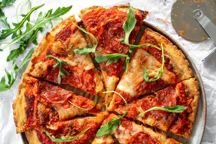 My 3-Ingredient Gluten Free Pizza Base Recipe (vegan, dairy free, low FODMAP)