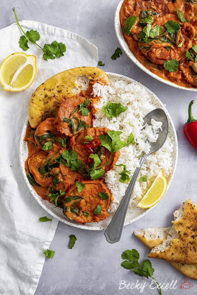 Vegan Masala Curry Recipe with Sweet Potato (gluten free, dairy free)