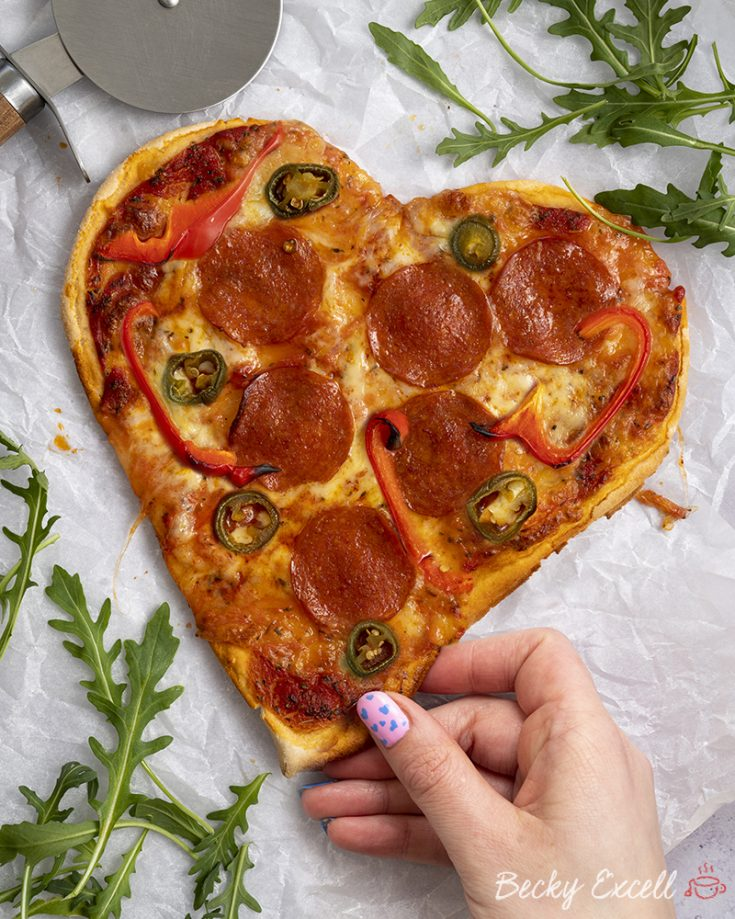 My Gluten Free Heart-shaped Spicy Pepperoni Pizza Recipe