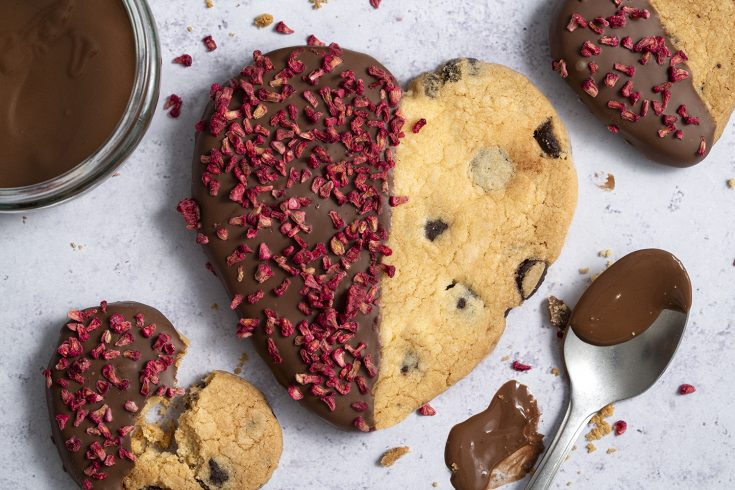Gluten Free Chocolate Dipped Shortbread Hearts Recipe