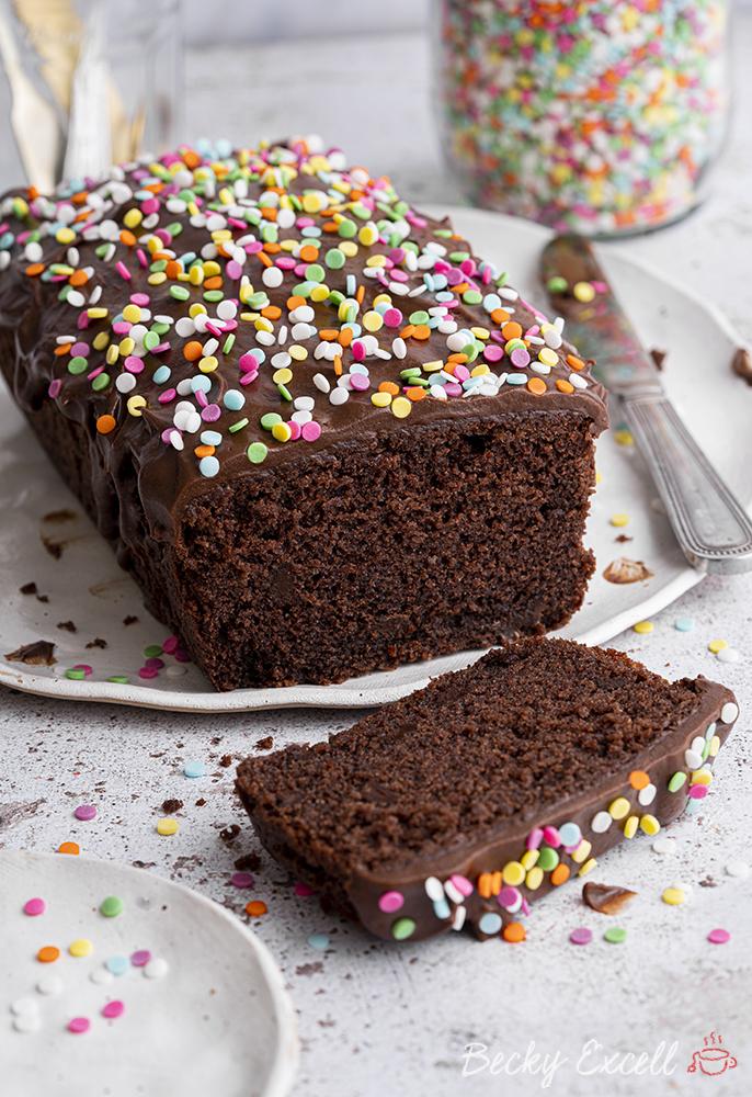 Gluten-free Chocolate Loaf Cake Recipe (dairy-free option)