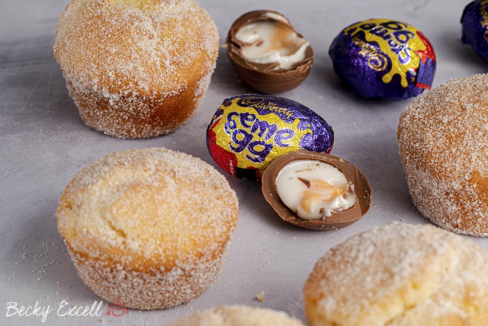 Gluten Free Creme Egg Baked Doughnuts Recipe