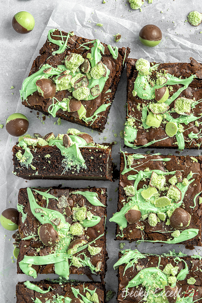 Gluten Free Mint Chocolate Brownies Recipe with Aero Peppermint Bubbles