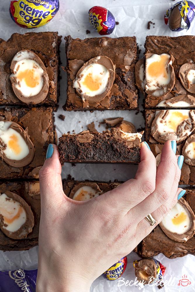 Gluten Free Creme Egg Brownies Recipe - ULTIMATE Easter baking!