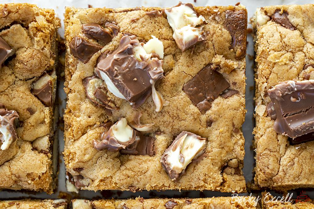 Gluten Free Kinder Cookie Bars Recipe - EASY METHOD!
