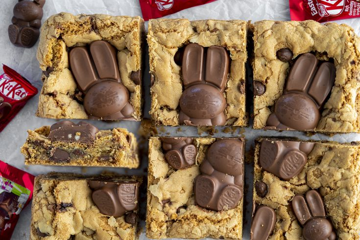 Gluten Free Kitkat Bunny Cookie Bars Recipe - Easter baking!