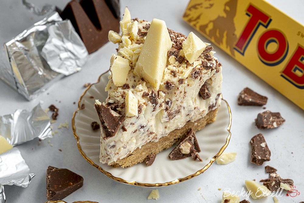 Gluten Free Toblerone Cheesecake Recipe (No-Bake)