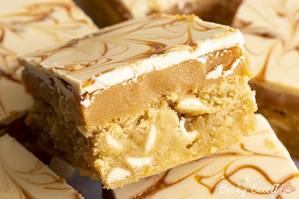 Gluten-free Millionaire's Blondies Recipe (Easy Method)