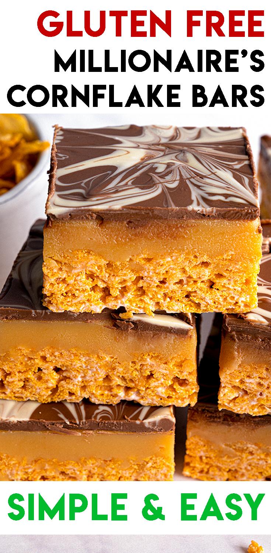 Gluten-free No-Bake Millionaire's Cornflake Bars Recipe