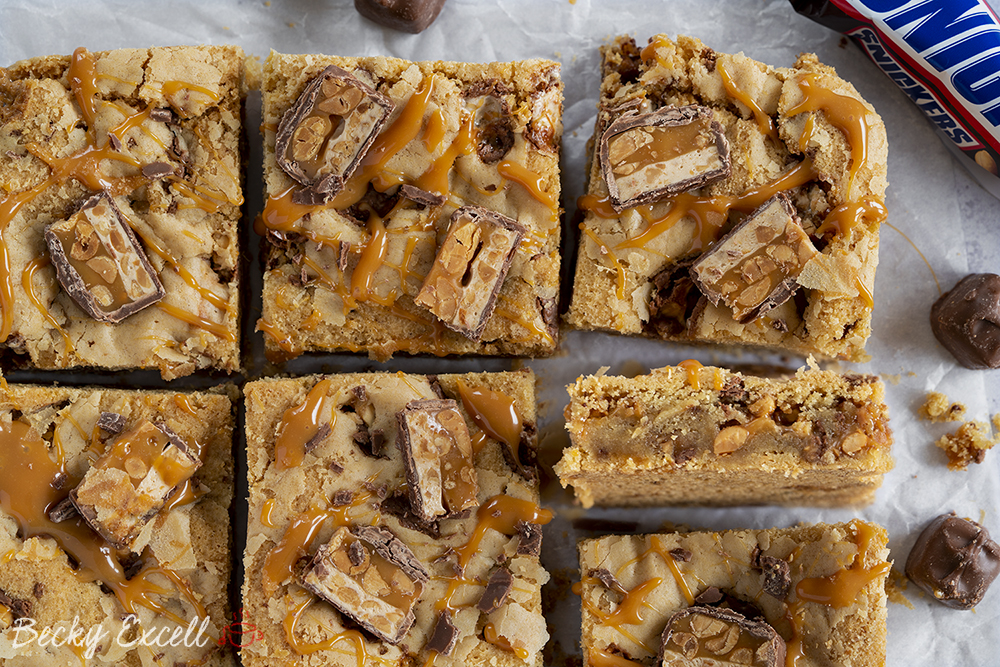Gluten-free Snickers Cookie Bars Recipe - EASY METHOD!