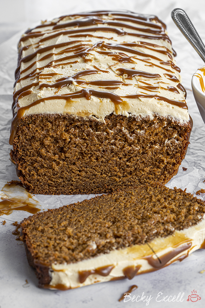 Gluten-free Sticky Toffee Loaf Cake Recipe (low FODMAP, dairy-free/vegan option)