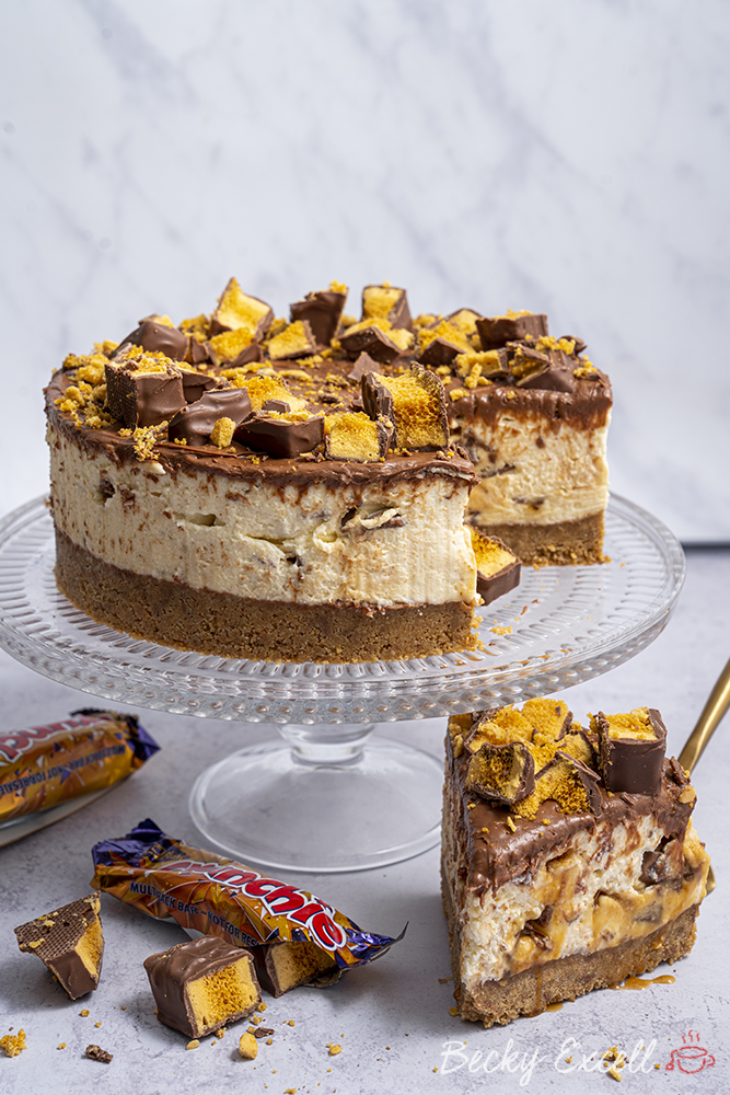 Gluten-free Crunchie Cheesecake Recipe (No-bake)