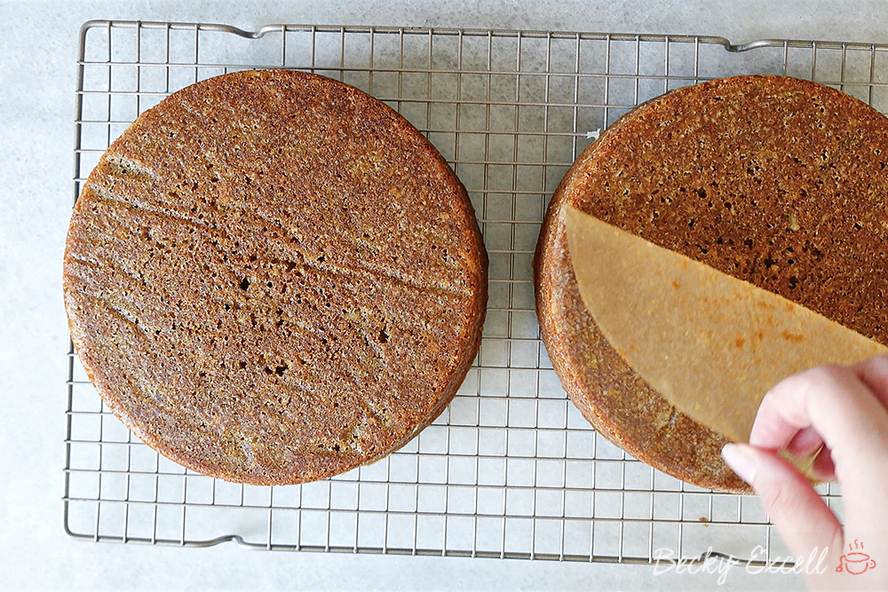 Allow your sponge cakes to cool on a cooling rack