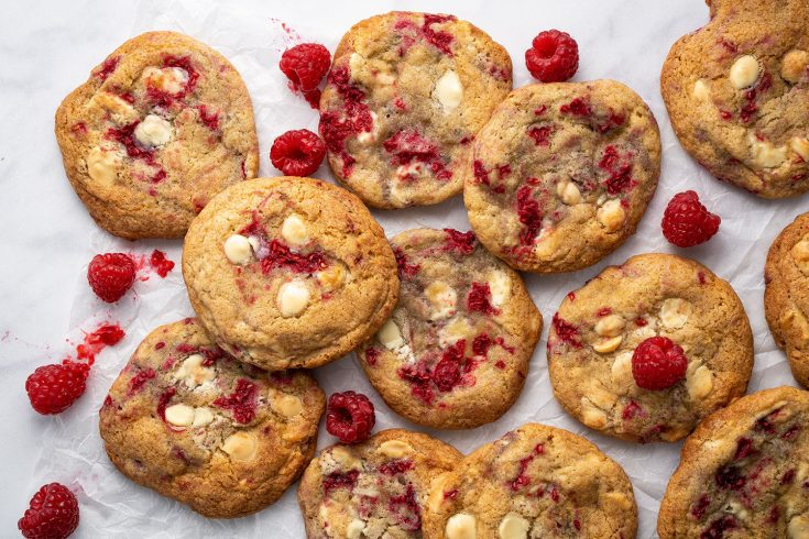 Gluten Free White Chocolate and Raspberry Cookies Recipe (dairy free, low FODMAP)
