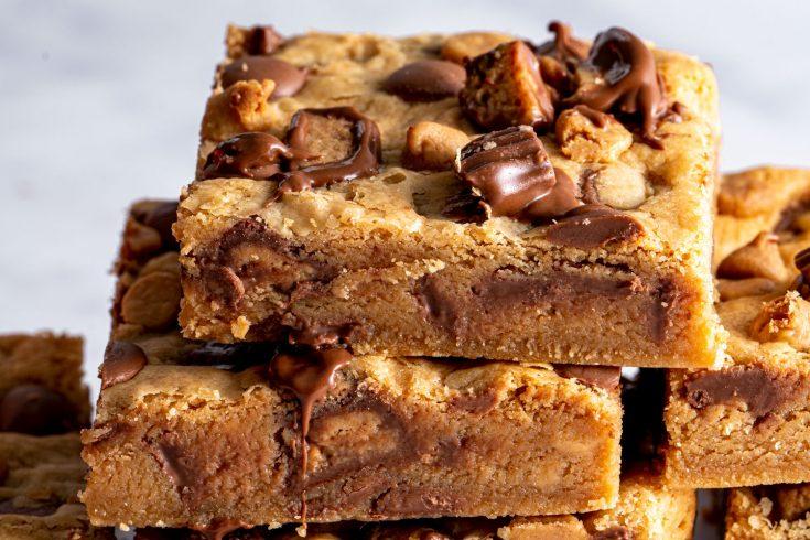 Gluten-free Peanut Butter Cookie Bars Recipe (low FODMAP/dairy-free/vegan option)
