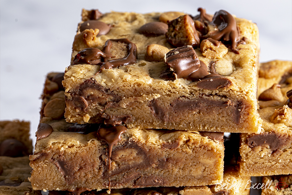 Gluten-free Peanut Butter Cookie Bars Recipe - Reese's Chocolate